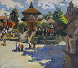 painting, landscape, realism, Bali, Indonesia, picture