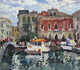 painting, landscape, realism, Italy, Sicily, Syracuse, picture