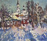Russia, provunce, russian tawn, russian vellage, painting, landscape, winter, autumn, spring