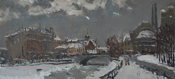 cityscape, Moscow, oil painting, painting is for sale
