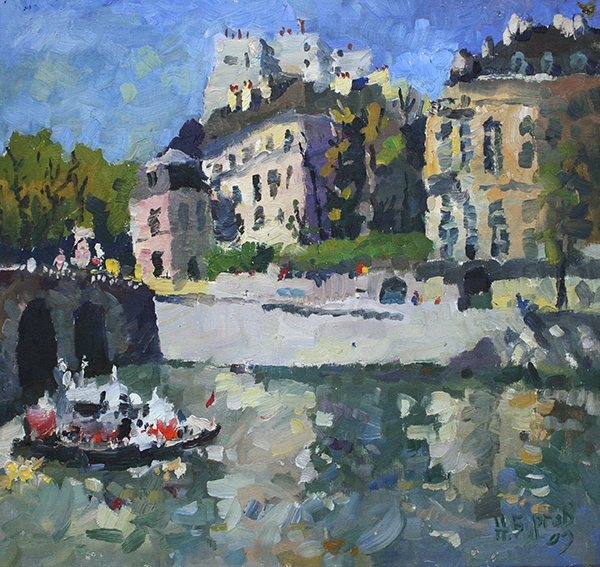 painting, landscape, realism, other countries, Paris, France
