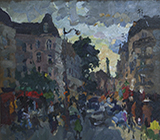 painting, landscape, realism, Paris. picture