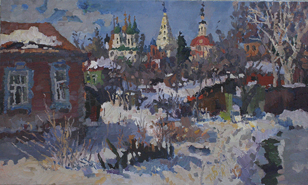 Kolomna, Russia, the winter. the village. the sprint
